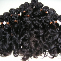 100% virgins Brasilians human hair 100grms.(3.5 Oz.)pc.